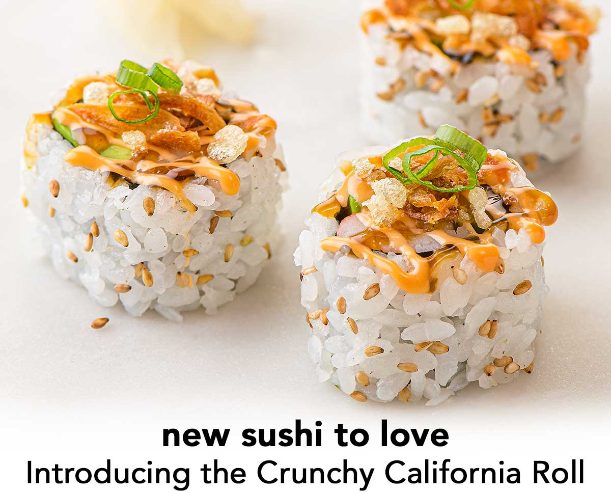 Introducing the Crunchy California Roll